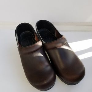 Dansko brown clog